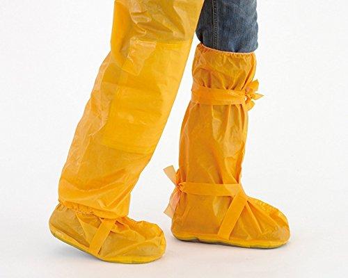 HONEYWELL Überstiefel wasserdicht Regen Überschuhe Einweg für Fahrrad Motorrad MTB in Signalfarbe Orange/Gelb