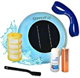 CopperFlo Solar Pool Ionizer - High Capacity | 85% Less Chlorine | Lifetime Replacement Warranty | Kill Algae | Longer Lasting Copper Anode | 25% More Ions | Keeps Pool Cleaner | Up to 45,000 Gal