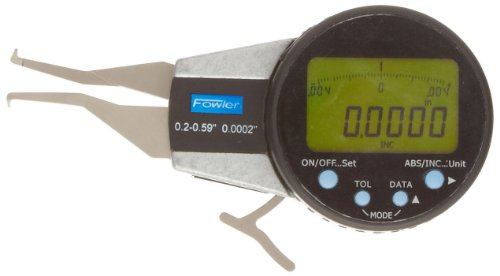 Fowler 54-554-611 Internal Electronic Caliper Gage, 0.200-0.590' Measuring Range, 0.0005' Resolution, 0.0008' Accuracy