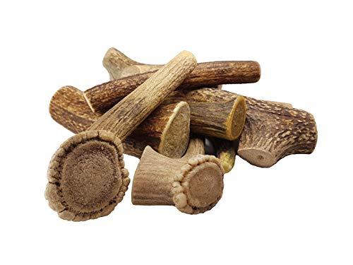 Bio Mordiscos Pack de Plusieurs (Minimum 3 pièces) Jouet à Mordre au Bois de cerf pour Chien – 100% Natural - sans additifs et sans conservateurs - Durable - À Faible teneur en Graisse (300-400g)