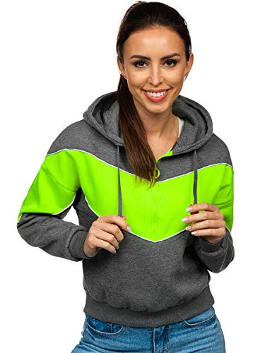 BOLF Sweat-Shirt ? Capuche pour Femme J.Style KSW2036 Graphite S [A1A]
