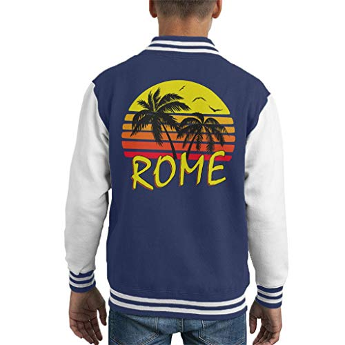 Cloud City 7 Rome Vintage Sun Kid\'s Varsity Jacket