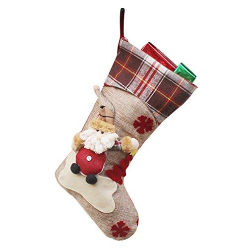 YiLianDa Noël Chaussettes Stockage De Noël Cadeaux De Bonbons Au Chocolat Sacs Aux Friandises Sacs A Provisions Sacs De Noël Colliers