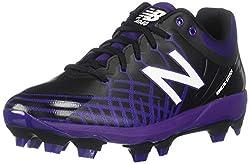 top 10 new balance mw978 New Balance 4040V5Tpu Men's Baseball Shoes Black / Purple US7.5