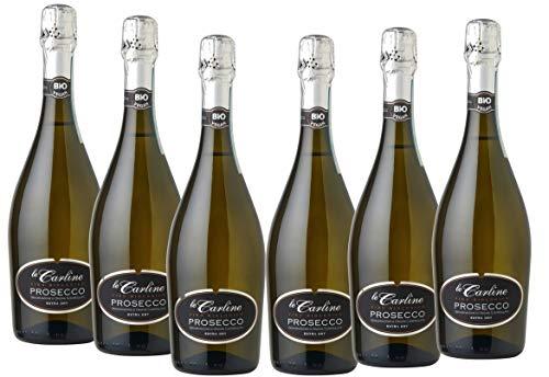 Vino Prosecco Espumoso extra dry Le Carline orgánico y vegano