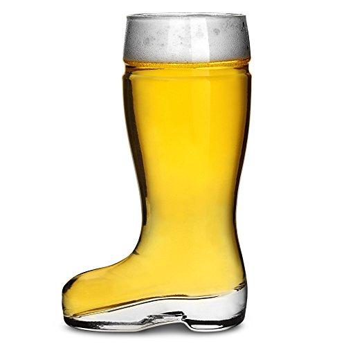 Drinkstuff- Bicchieri da birra a forma di stivale, capacità 330ML, confezione da 6, stile: stivale tedesco.