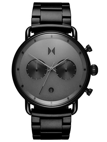 MVMT Herren Analog Quarz Uhr mit Edelstahl Armband D-BT01-BB