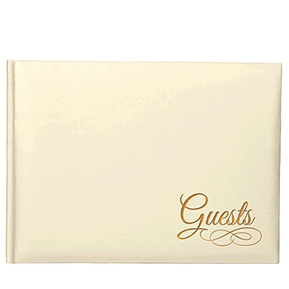 Amscan Ivory Guest Book withGold Detail | Wedding and Engagement Party, 4 Ct.