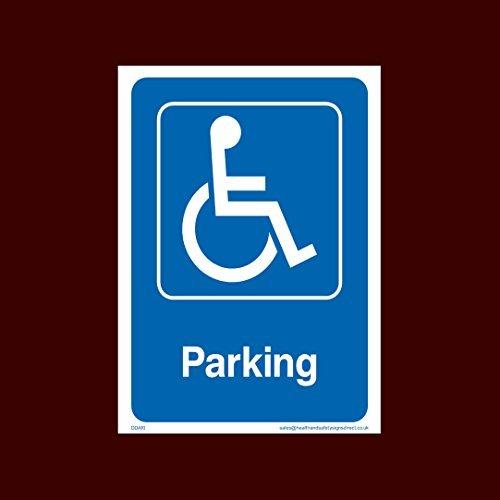 Gehandicapten parkeersticker teken - Vuur, gehandicapten, Rolstoel, Ramp, Parkeren, Noodgeval - (Dda10)