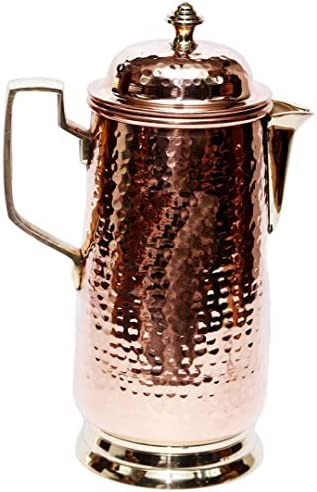 bona fide Copper Pitcher Drink More Water 100 Pure Handmade Hammered copper Jug Made From Heavy product image
