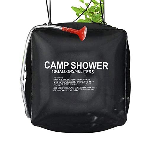 Bolsa de ducha de camping de calefacción plegable al aire libre 40L, Viajes y camping Bolsa de almacenamiento de agua de ducha exterior portátil extraíble solar, Agua caliente a 45 ° C.