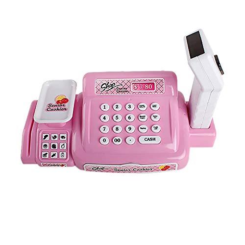 Hisoul Children Pretend Toys Children Simulation Supermarket Cash Registers Pretend Toys Intellectual Development Game Toys fit Kids Christmas Best Gift (Pink)