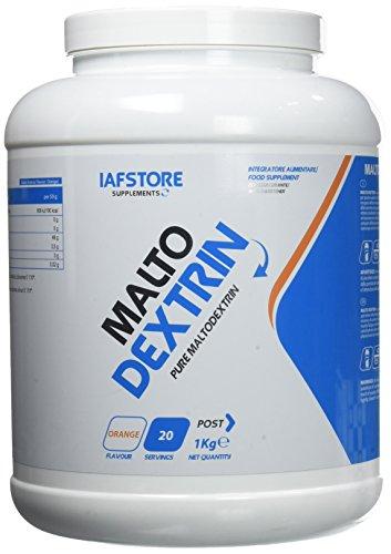 Iafstore Supplements Malto Dextrin Integratore Alimentare di Carboidrati, Maltodestrine DE 19, Arancia - 1000 g