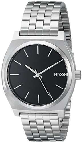 Nixon Unisex Time Teller Japanese quartz Stainless Steel watches Black A045