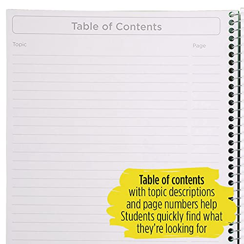 """Five Star Interactive Notetaking, 1 Subject, Wide Ruled Spiral Notebook, 100 Sheets, 11"""" x 8-1/2"""", Color Selected For You, 1 Count (06560), 16 Color Selected For You Photo #2"""