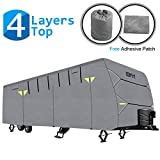 OOFIT Travel Trailer Cover Fits for 27-30' 4 Layers Fabric Snow Wind...