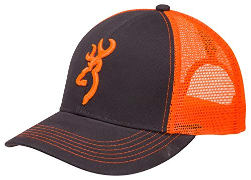 Browning, Flashback Cap, Charcoal/Neon Orange