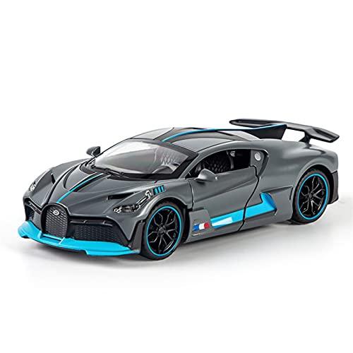 Kit Juguetes Coches Metal Resistente para Bugatti-DIVO 1:32 Simulación De Aleación De Sonido Y Luz Modelo De Coche Colección De Regalos para Niños Maravilloso Regalo (Color : Matt Gray)