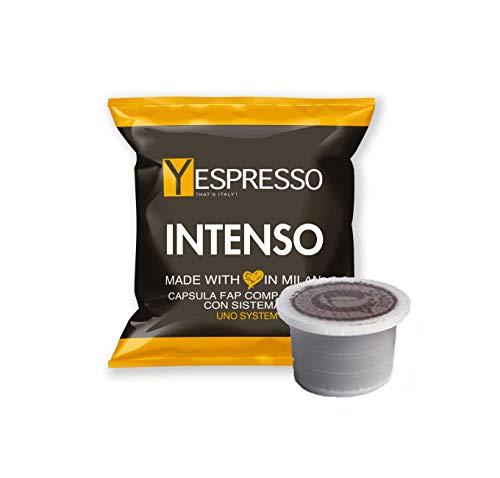Yespresso Capsule Uno Indesit System Illy Kimbo Compatibili Intenso - Confezione da 100 Pezzi