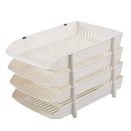 LXF Vassoi carta per scrivania impilabili Lettera vassoio carta multi-strato vassoio carta lettera desktop vassoio vassoio impilabile accatastamento accessori da scrivania di raccolta vassoi da scriva
