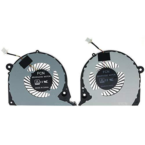 ndliulei New Laptop CPU+GPU Cooling Fan Replacement for Dell Inspiron G7 15-7000 7577 7588 P72F P/N:DFS2000054H0T DFS541105FC0T