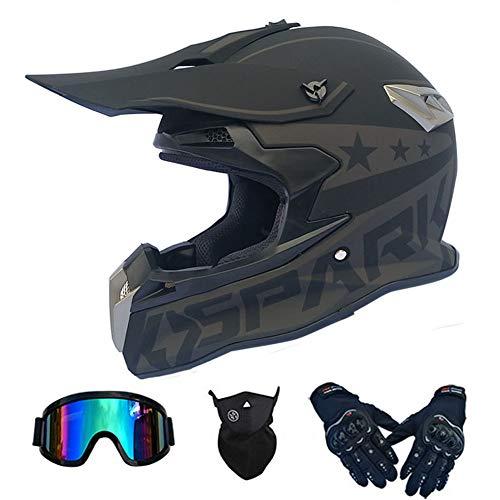 RTGE Casco Integral de Motocross Cascos de Rally de Motocicletas para Adultos...