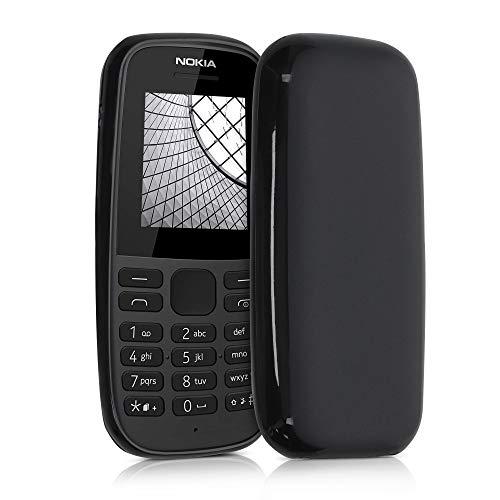 kwmobile Hülle kompatibel mit Nokia 105 (2019) - Hülle Silikon - Soft Handyhülle - Handy Hülle in Schwarz