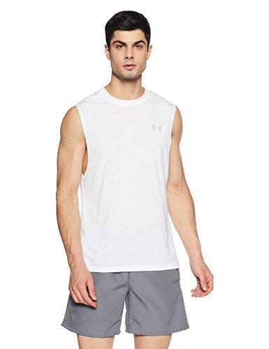 Under Armour - Camiseta sin mangas Threadborne Siro para hombre - 1289617, XS, Blanco/Gris Overcast