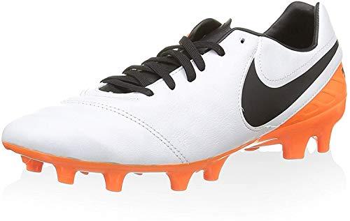 Nike Tiempo Mystic V FG, Botas de fútbol para Hombre, Blanco (White/Black-Total Orange), 40 1/2 EU