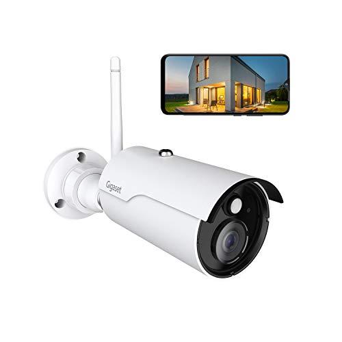 Gigaset Outdoor Camera | Überwachungskamera | WLAN Kamera mit Live Ansicht Full HD und Nachtsicht Infrarotkamera | Aussenkamera mit Bewegungserkennung | Video Überwachung | Wasserdicht IP66 | weiß