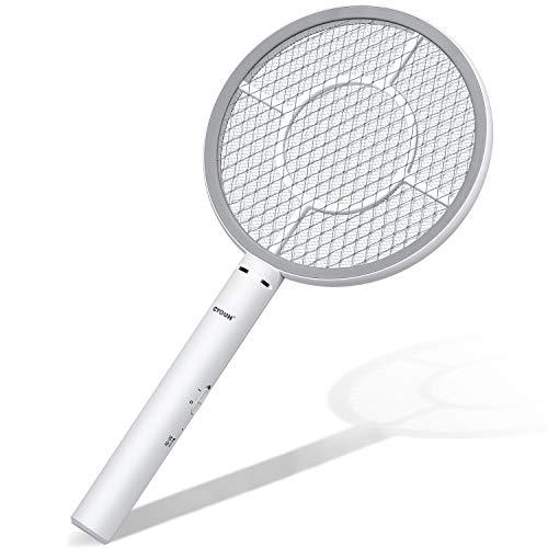 CYOUH Elektrische Fliegenklatsche Fliegenfänger Moskito Zapper/Insektenvernichter mit USB wiederaufladbar - Doppelte Schichten Mesh...