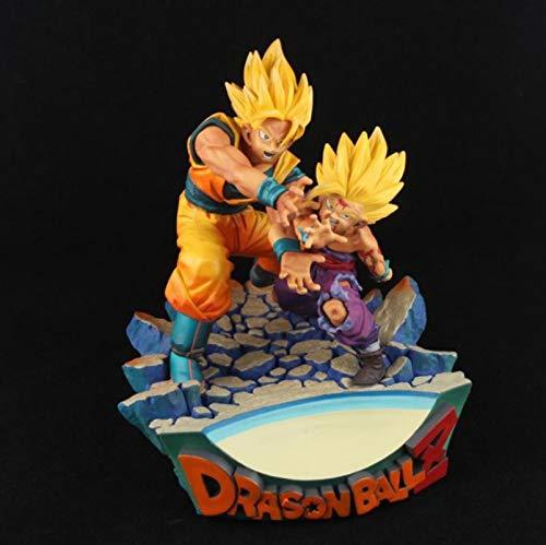 wwbfdc Figura De Acción Anime Dragon Ball Z Goku Gohan Padre E Hijo Kamehameha PVC Modelo Dragon Ball Super Figuritas Juguetes 17Cm