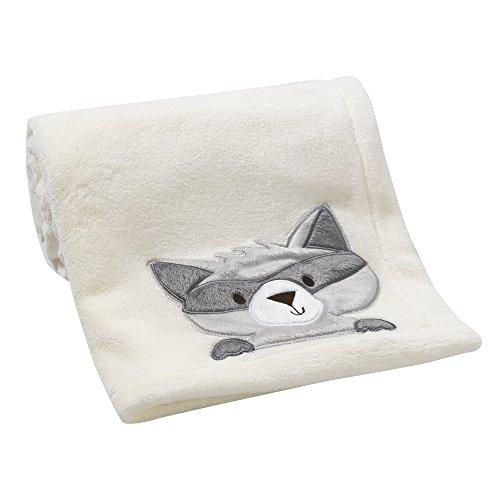 Bedtime Originals - Manta de mapache de bosque, color crema/gris