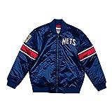 Mitchell and Ness NBA - Chaqueta de satén NEW JERSEY NETS, NAVY S