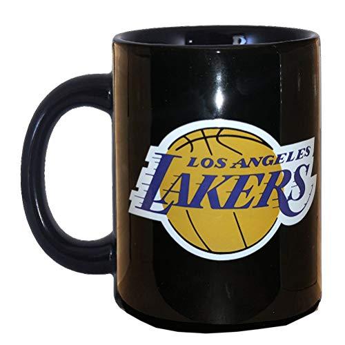 La Piuma Dorata Logo Lakers Tazza in Scatola Individuale NBA Unisex Bambino, Nero