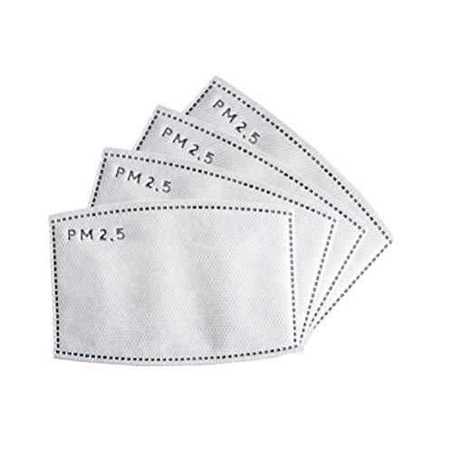Exceart 4 Stück Pm2. 5 Aktivkohlefilterpads 5 Lagen Vliesstoffmasken Dichtungen Gesichtsmaske Ersatzfiltermatten