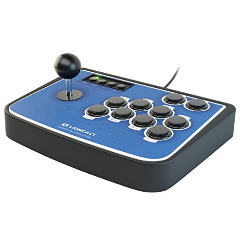 Lioncast Arcade Fight-Stick für PS4, PC und Nintendo Switch - Controller Joystick für Fighting Games