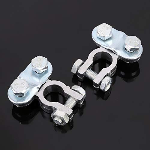 Startkabels & Clipt Positieve en negatieve auto-U-vormige metalen accu, connector klemmen, veren, binnendiameter: 12 mm (2 stuks)
