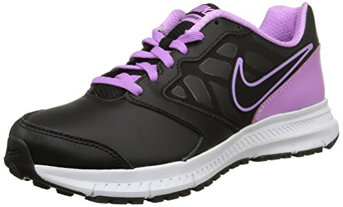 Nike Wmns Downshifter 6 Lea, Scarpe Sportive, Donna, Multicolore (White/Black-Sunset Glow-White), 40