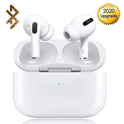 Bluetooth 5.0 Auriculares Inalambricos Cascos Deportivos Estéreo con Mic y Cancelación de Ruido Caja de Carga - Auriculares Compatible con airpds Apple iPhone Airpods Samsung Huawei