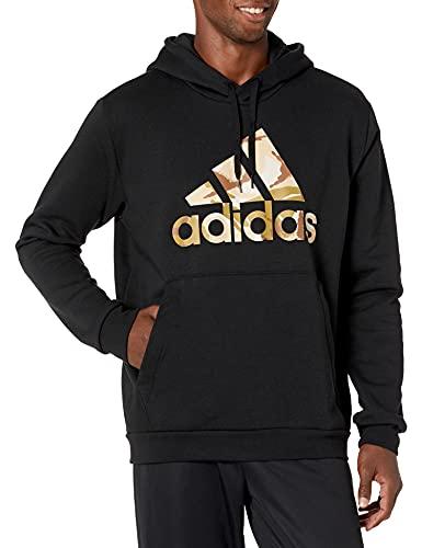 adidas Men's Standard Essentials Hooded Sweatshirt, Black, XX-Large