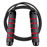 SweetLF Skipping Rope for Fitness, Speed Jump Rope, Tangle-Free with Ball Bearings, Adjustable Wire Jump Rope, Ideal for Boxing, MMA Workouts, Aerobic Exercise, for Men, Women and Kids
