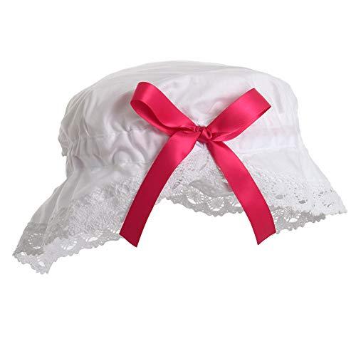 GRACEART Sombrero Cortesana Medieval Victoriano Blanco para Disfraz de Nia (Estilo-3 (Talla Grande))