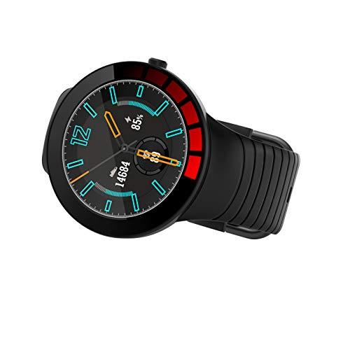QIAO Smart Armband Voll-Touchscreen Herzfrequenz Blutdruck Schrittzähler Sportuhr IP68 wasserdichte Smartwatch(Color:C.)