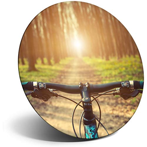 Awesome Magnet for Refrigerator, Fridge - Mountain Bike BMX Trail Racing for Office, Cabinet and Whiteboard, Magnetic Stickers, Cool Gift #8657