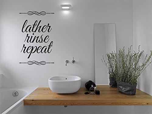 Adhesivo decorativo para pared de baño, tamaño XL, 89 cm de alto x 57 cm de ancho, color beige