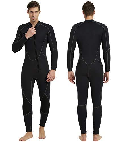IFLOVE 3mm Combinaison Plongée pour Homme Manches Longues Néoprène Monopiece Wetsuit Surf Snorkeling Natation S