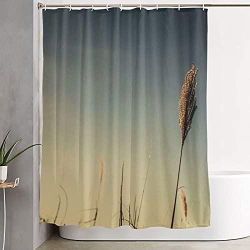 Weizen-Duschvorhang, Individuellkeit Duschvorhang für Badezimmer mit 12 Haken, wasserdicht & waschbar, Stoff Duschvorhang für Feuchträume, Dekorationen, Badezimmer, 150 x 180 cm