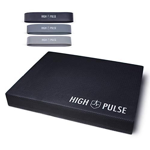 High Pulse® XXL Balance Pad inkl. 3X Fitnessbänder + Poster –...