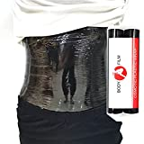 2 Rolls 60 Meters Premium Black Osmotic Plastic Slimming Body Wrap Film for Weight Loss